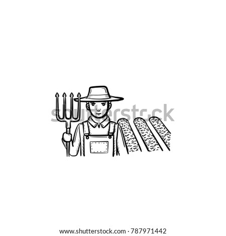 farmer with pitchffork ork at