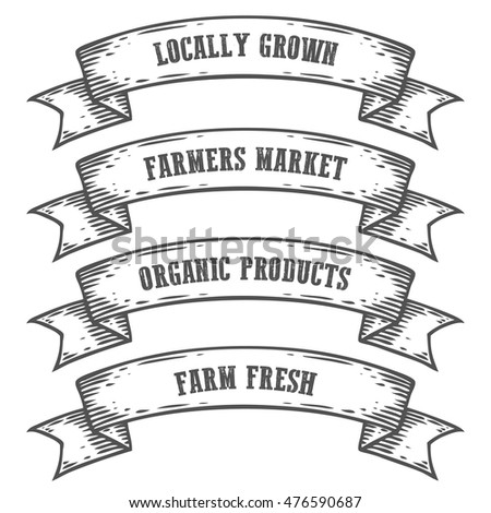 farmers market emblem ribbon....