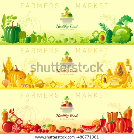 Pumpkin Farmers Market Logo - Download Free Vector Art, Stock