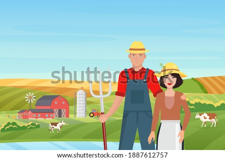 farmers people and farm