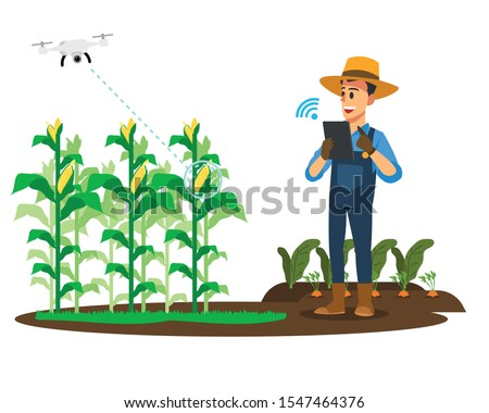 farmers use tablets to control
