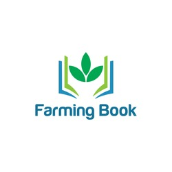 farming book logo illustration. book logo. Vector abstract logo design template - online education and learning concept - tree and book icon
