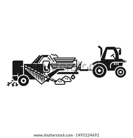 Farming machinery icon. Simple illustration of farming machinery vector icon for web design isolated on white background