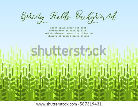 farming spring background with