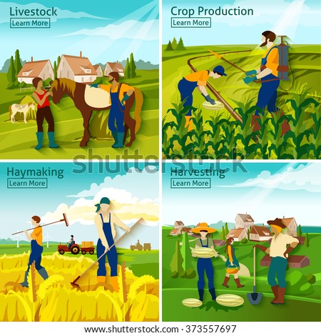 farming 2x2 design concept with