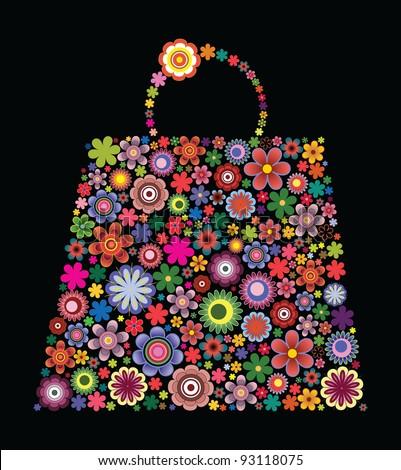 Fashion bag of flowers I