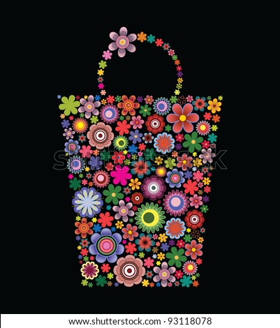 Fashion bag of flowers II