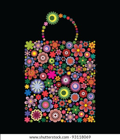 Fashion bag of flowers III