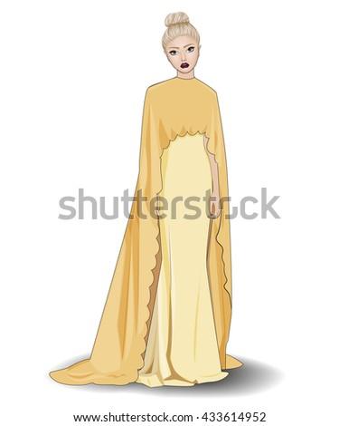 fashion beautiful blonde girl