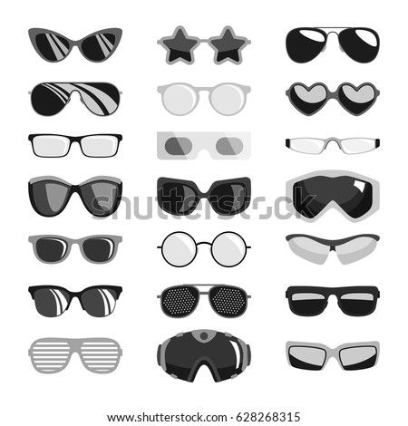 fashion black sunglasses set