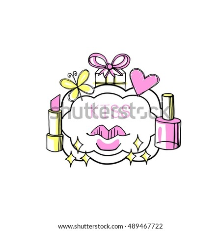 fashion bubbles vector isolated