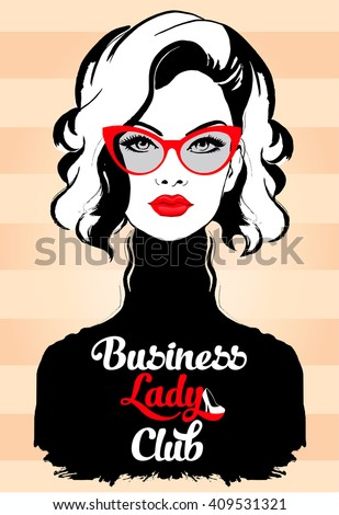 fashion business woman in