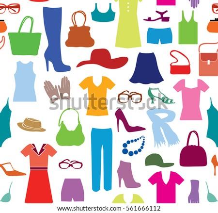 fashion cloth seamless pattern