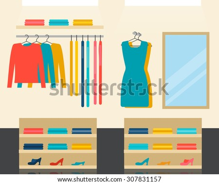 fashion clothes store interior