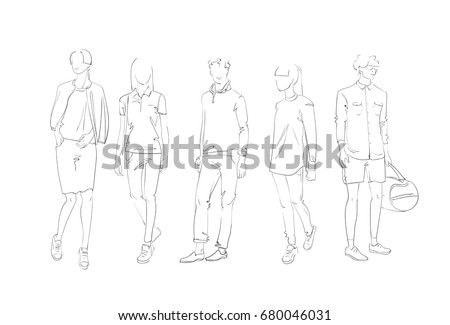 fashion collection of clothes