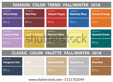 fashion color trend fall winter