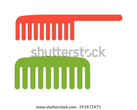 fashion comb icon and style