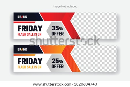 Fashion Cover Photo Design for social media. Black Friday Sale Banner