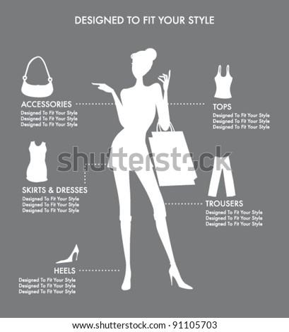 fashion design - stock vector
