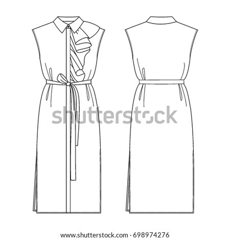 fashion dress for woman vector