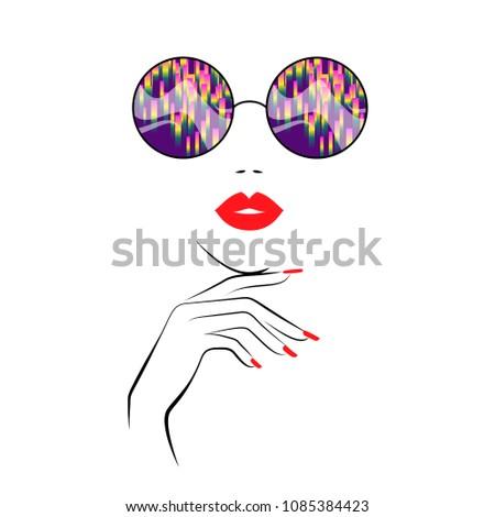 fashion elegant woman is