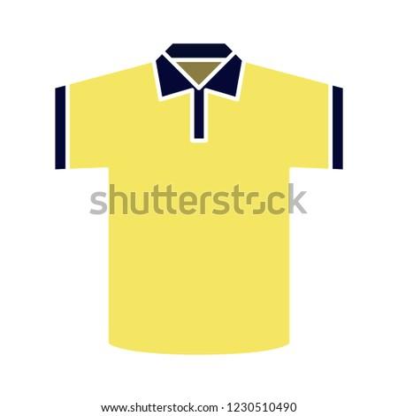 fashion garment tshirt isolated vector - textile apparel illustration sign . clothing polo symbol