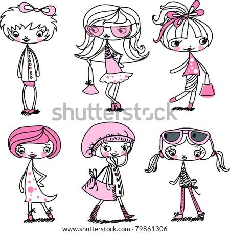 Fashion girl cartoon