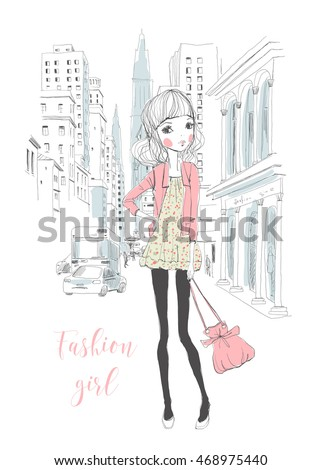 fashion girl in the city