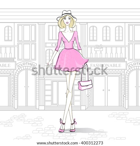 fashion girl on the streets of