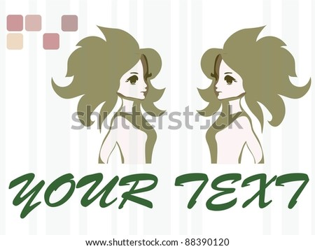 FASHION GIRL VECTOR ABSTRACT BACKGROUND