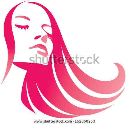 fashion girl with long red hair