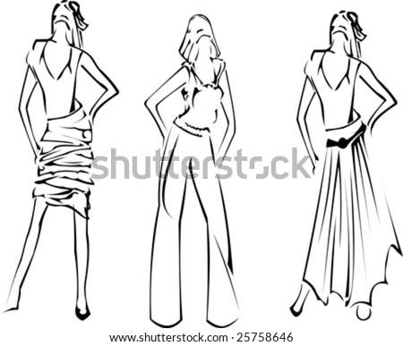 dress designs sketches. Girls Designer Sketch