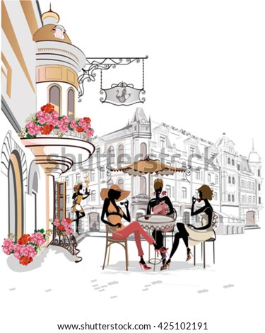 fashion girls in the street