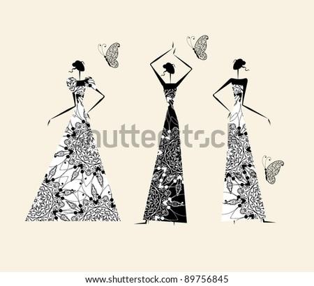 fashion girls in wedding