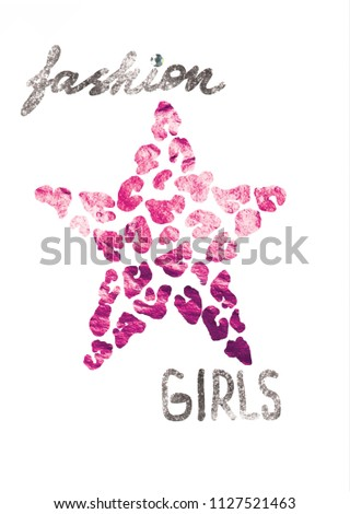 fashion girls modern Fashion Slogan for T-shirt and apparels graphic vector Print.