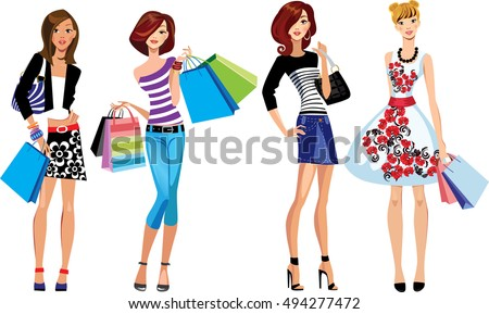 fashion girls  shopping girl