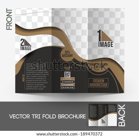 Fashion Hairdresser Tri-Fold Mock up & Brochure Design