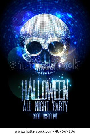 fashion halloween party poster