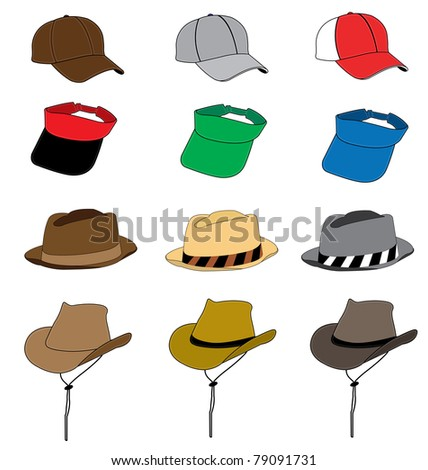 fashion hat vector template for design work