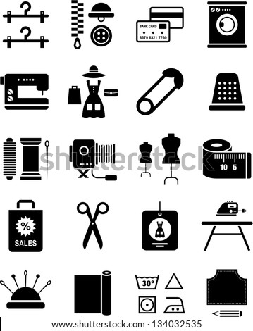 Fashion Icons Ilustraci N Vectorial En Stock 134032535 Shutterstock