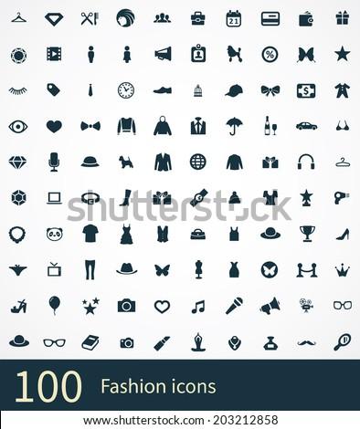 fashion Icons Vector set