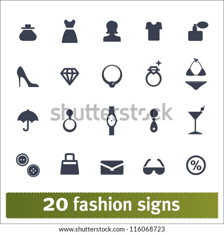 Fashion Icons Vector Set Of Female Accessories