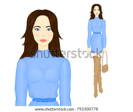 fashion illustration a girl in