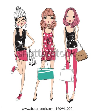 fashion illustration girls