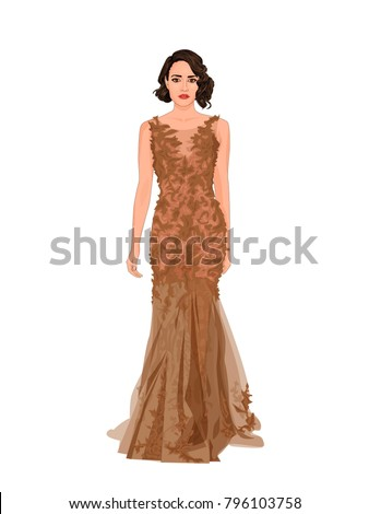 fashion illustration of posing