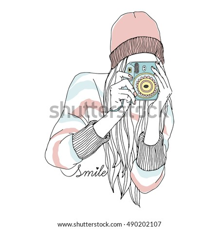 fashion illustration of teen