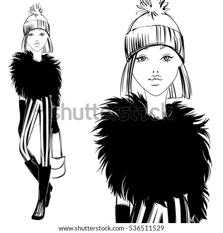 fashion illustration vector