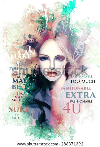 fashion illustration with a