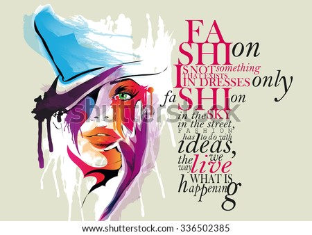 fashion illustration  woman