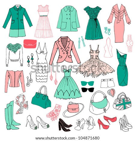 Fashion 2012 in mint and pink colors - stock vector